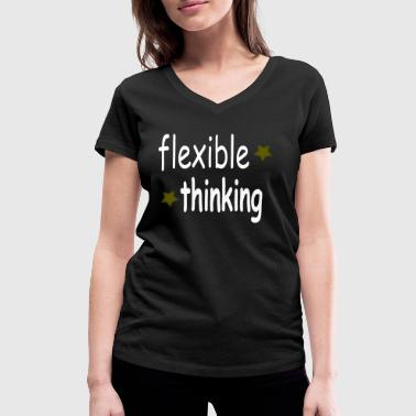 flexible thinking knows - Women's Organic V-Neck T-Shirt by Stanley & Stella