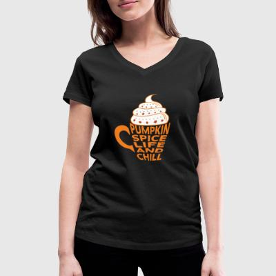 Citrouille Spice Latte Coffee Café and Chill - T-shirt bio col en V Stanley & Stella Femme