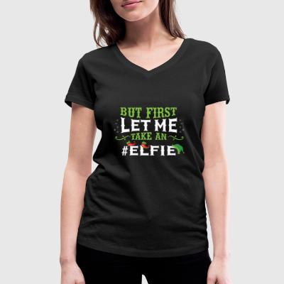But first let me take an Elfie Christmas Shirt - Women's Organic V-Neck T-Shirt by Stanley & Stella