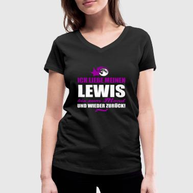 I love my LEWIS gift - Women's Organic V-Neck T-Shirt by Stanley & Stella