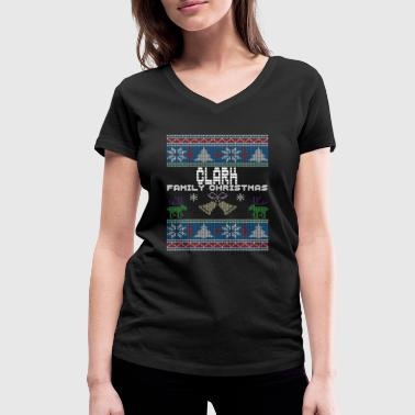 Ugly Clark Christmas Family Vacation Tshirt - Women's Organic V-Neck T-Shirt by Stanley & Stella