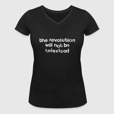 revolution televised - Women's Organic V-Neck T-Shirt by Stanley & Stella