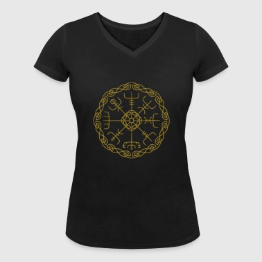 Viking Vegvisir - Women's Organic V-Neck T-Shirt by Stanley & Stella