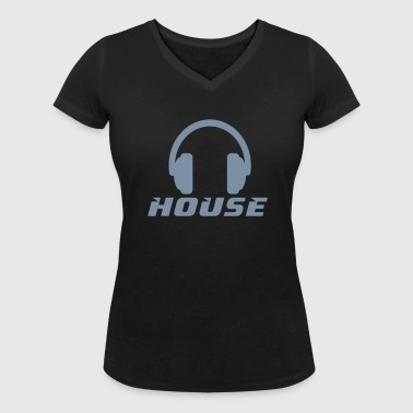 House - Women's Organic V-Neck T-Shirt by Stanley & Stella