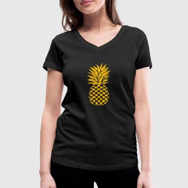 Pineapple Summer Vibe - Women's Organic V-Neck T-Shirt by Stanley & Stella