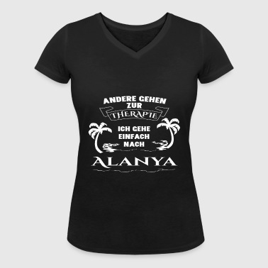 Alanya - therapy - holiday - Women's Organic V-Neck T-Shirt by Stanley & Stella