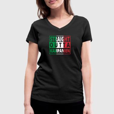 Straight outta Italia Italy Campania - Women's Organic V-Neck T-Shirt by Stanley & Stella
