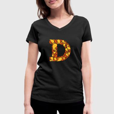 The Letter D - Women's Organic V-Neck T-Shirt by Stanley & Stella
