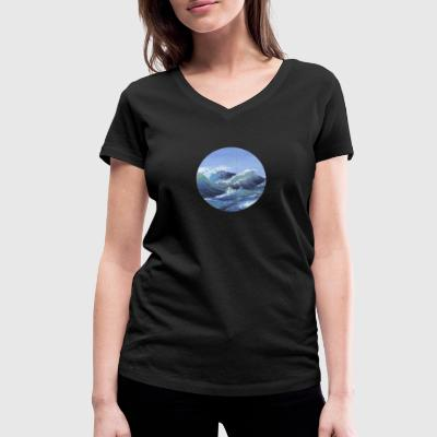 the sea - Women's Organic V-Neck T-Shirt by Stanley & Stella