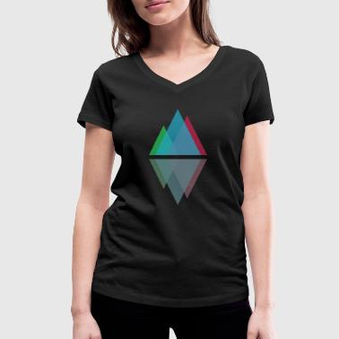 Minimal Mountains - Women's Organic V-Neck T-Shirt by Stanley & Stella