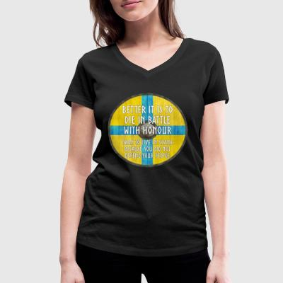Vikings - Better to Die with Honour - Women's Organic V-Neck T-Shirt by Stanley & Stella