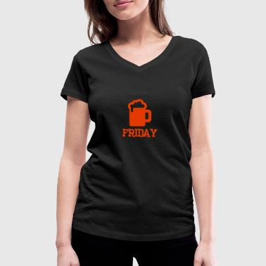 friday - Women's Organic V-Neck T-Shirt by Stanley & Stella