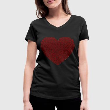 Jesus heart - Women's Organic V-Neck T-Shirt by Stanley & Stella