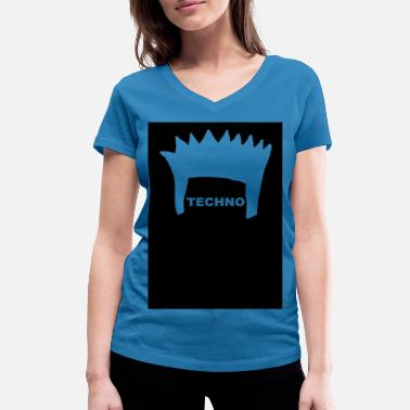 Electronica FRISUR Electronica Underground Club Festival Styl - Women's Organic V-Neck T-Shirt by Stanley & Stella