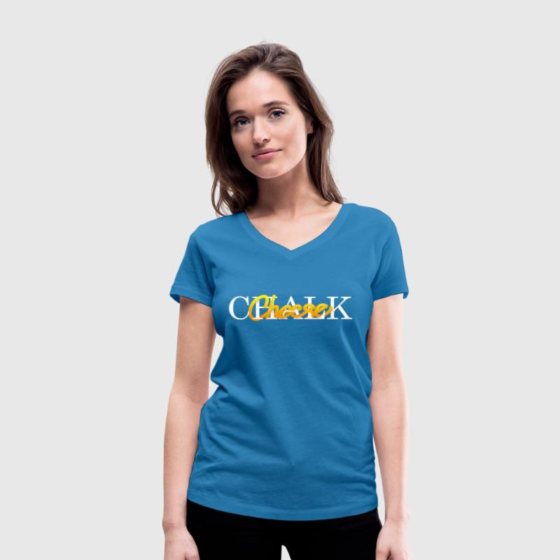 Chalk and Cheese - Women's Organic V-Neck T-Shirt by Stanley & Stella