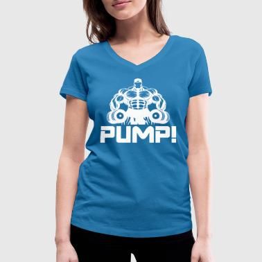 Pumps PUMP! - Women's Organic V-Neck T-Shirt by Stanley & Stella