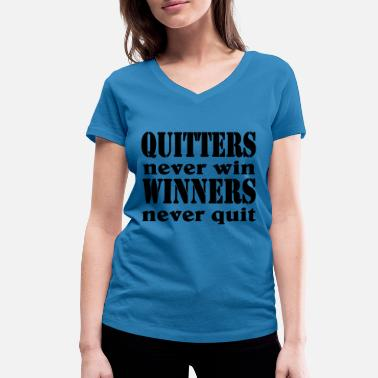 Winx Club Quitters never win, Winners never quit - T-shirt bio col V Stanley & Stella Femme