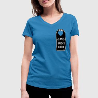 Wedding Receptions The wedding's Bridesmaid - Women's Organic V-Neck T-Shirt by Stanley & Stella