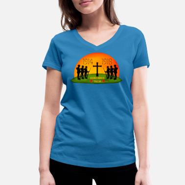 Ww1 Remembrance Day - Women's Organic V-Neck T-Shirt by Stanley & Stella