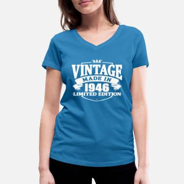 Made 1946 Vintage made in 1946 - Women's Organic V-Neck T-Shirt by Stanley & Stella