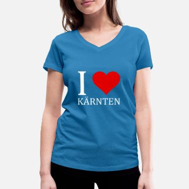 Carinthia I love Carinthia shirt design - Women's Organic V-Neck T-Shirt by Stanley & Stella