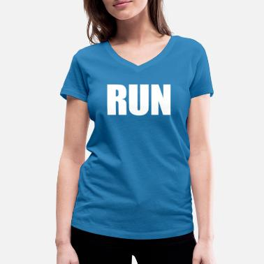 Running Gift Run running jogging gift - Women's Organic V-Neck T-Shirt by Stanley & Stella