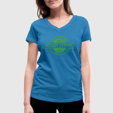 Barbell Club Vegan Strong Athlete Society Club Member Gift - Women's Organic V-Neck T-Shirt by Stanley & Stella
