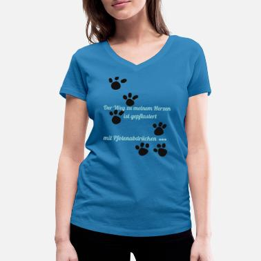 Paw paws - Women's Organic V-Neck T-Shirt by Stanley & Stella
