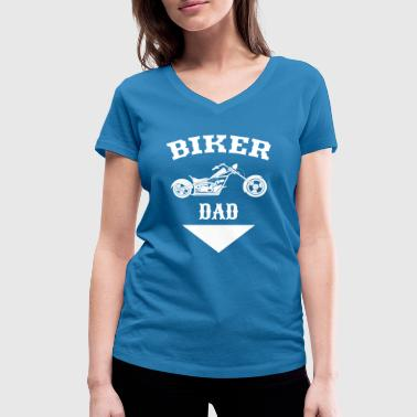 biker dad | motorcycle | Dad motorcycle - Women's Organic V-Neck T-Shirt by Stanley & Stella