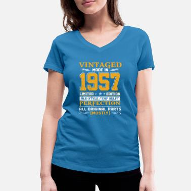 1957 Vintaged Made In 1957 Limited Editon - T-shirt bio col V Stanley & Stella Femme