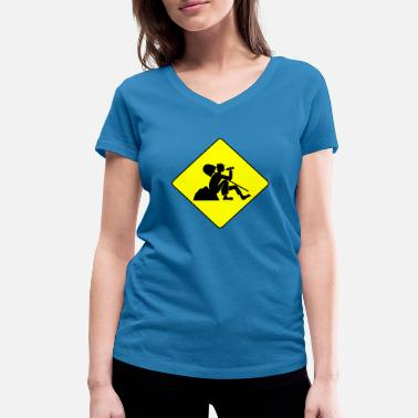 Construction Worker construction worker - Women's Organic V-Neck T-Shirt by Stanley & Stella