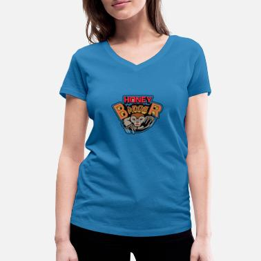 Honey Badgers Honey Badger, honey badger - Women's Organic V-Neck T-Shirt by Stanley & Stella