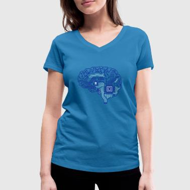 Android brain pcb - Women's Organic V-Neck T-Shirt by Stanley & Stella