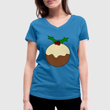 pudding - Women's Organic V-Neck T-Shirt by Stanley & Stella
