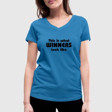 This is what winners look like - Vrouwen bio T-shirt met V-hals van Stanley & Stella