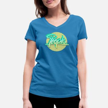 people people - Women's Organic V-Neck T-Shirt by Stanley & Stella