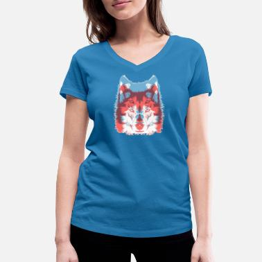 Wolves wolves - Women's Organic V-Neck T-Shirt by Stanley & Stella