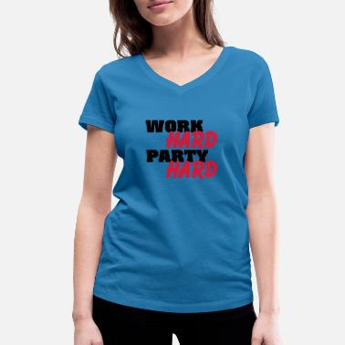 Party Work Hard Work hard, party hard - Frauen Bio-T-Shirt mit V-Ausschnitt von Stanley & Stella
