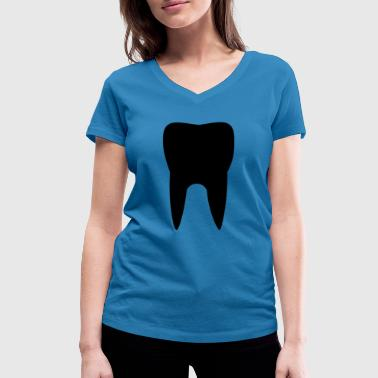 Tooth tooth - Women's Organic V-Neck T-Shirt by Stanley & Stella