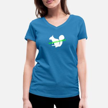 Tail Oachkatzlschwoaf | White - Women's Organic V-Neck T-Shirt