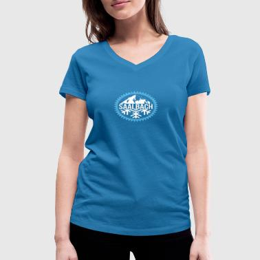 SAALBACH Winter mountains - Women's Organic V-Neck T-Shirt by Stanley & Stella