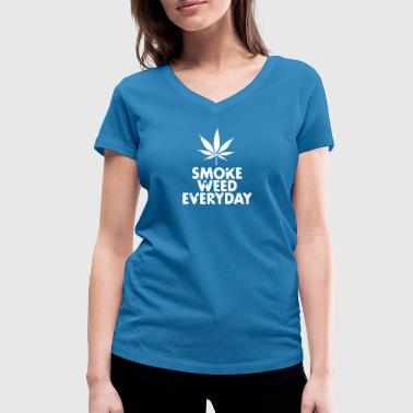 smoke weed everyday leaf - T-shirt bio col V Stanley & Stella Femme