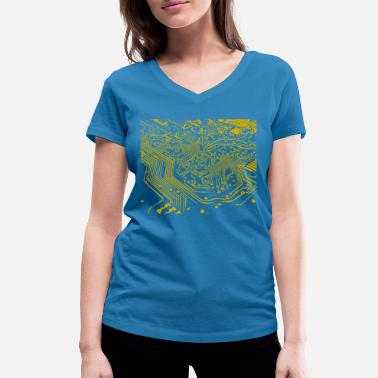 Circuit circuit board - Women's Organic V-Neck T-Shirt by Stanley & Stella