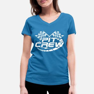 Race Car Driver Pit Crew - Racing Race Motorsport Tuning - Women's Organic V-Neck T-Shirt by Stanley & Stella