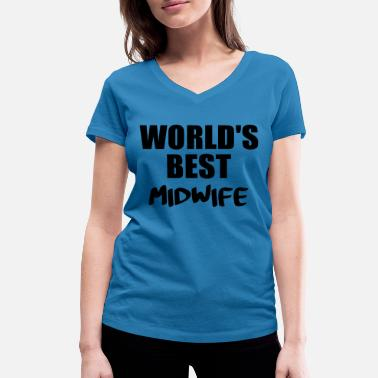 Midwife midwife - Women's Organic V-Neck T-Shirt by Stanley & Stella