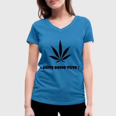 Kiffe Cannabis hemp kiff bag - Women's Organic V-Neck T-Shirt by Stanley & Stella