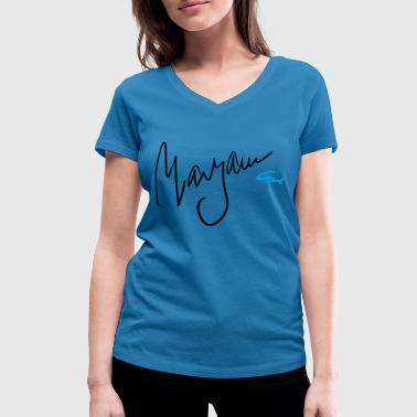 Maryam Maryam with artist design - Women's Organic V-Neck T-Shirt by Stanley & Stella