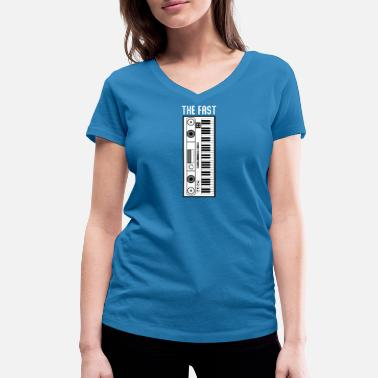 Pianist Keyboard the fast - Women's Organic V-Neck T-Shirt by Stanley & Stella