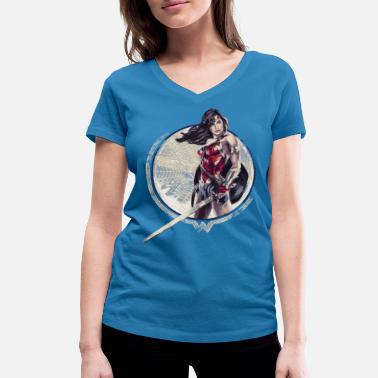 Bros Wonder Woman Sword And Shield - Ekologisk T-shirt med V-ringning dam från Stanley & Stella