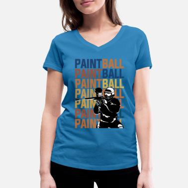 Paintball PAINTBALL PAINTBALL PAINTBALL - Women's Organic V-Neck T-Shirt